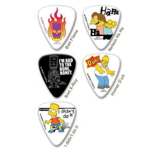 Kindergitarren-Zubehör: Simpsons Gitarren Plektren