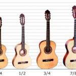 Gitarrengrößen – was heisst 3/4, 1/2 und 1/4?