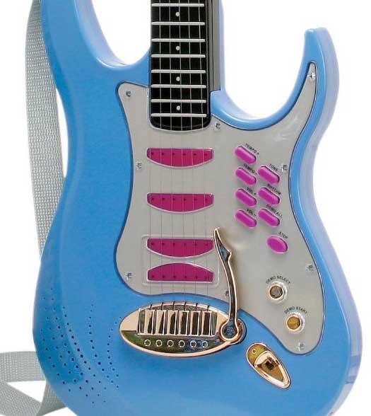 witzige spielzeug e gitarre mit mikrofon sound f r. Black Bedroom Furniture Sets. Home Design Ideas