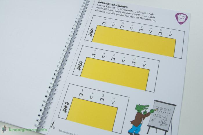Rockodil - Kinder E-Gitarren Lehrbuch - Lösungsschablonen