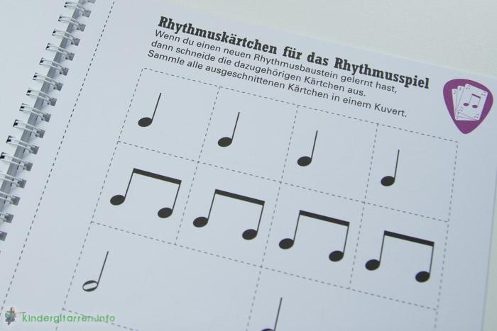 Rockodil - Kinder E-Gitarren Lehrbuch - Rhythmuskarten