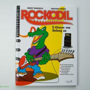 Rockodil - Kinder E-Gitarren Lehrbuch - Vorderseite