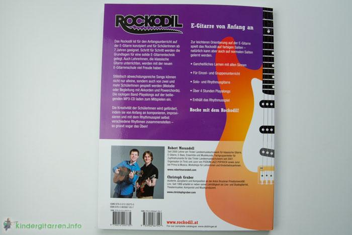 Rockodil - Kinder E-Gitarren Lehrbuch - Rückseite