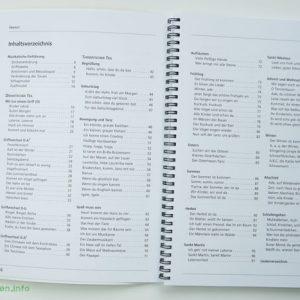 Kinderlieder mit einfachen Gitarrengriffen - Inhaltsverzeichnis