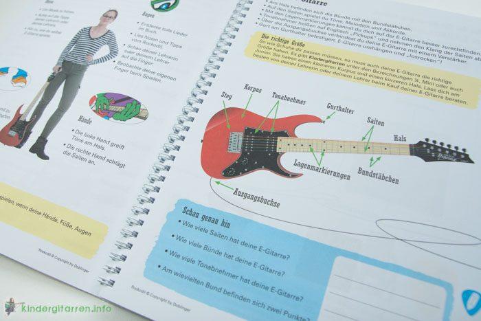 E-Gitarre für Kinder - das Rockodil Lehrbuch im Test