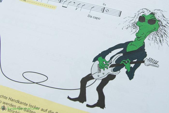 Rockodil - Kinder E-Gitarren Lehrbuch - Zeichnungen